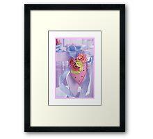 Pink Heart (framed) Framed Print
