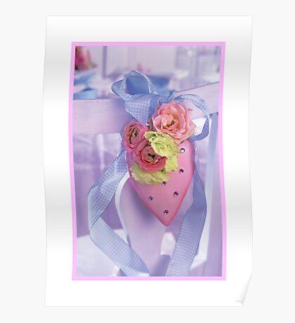 Pink Heart (framed) Poster