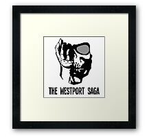 Westport Logo with Text Framed Print