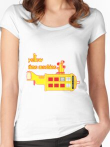 YELLOW TIME MACHINE PILLOW  Women's Fitted Scoop T-Shirt