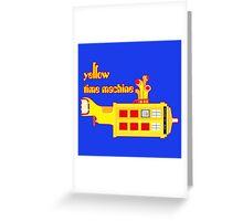 YELLOW TIME MACHINE PILLOW  Greeting Card