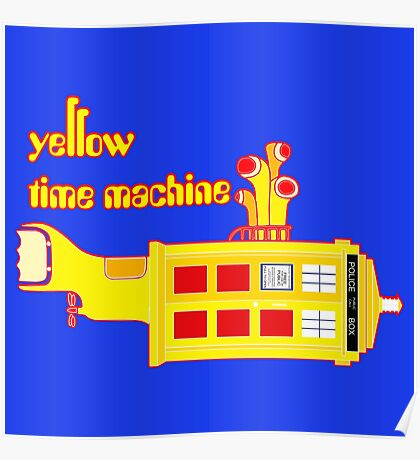 YELLOW TIME MACHINE PILLOW  Poster