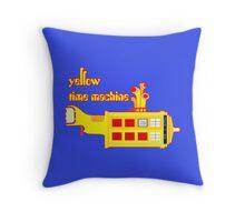 YELLOW TIME MACHINE PILLOW  Throw Pillow