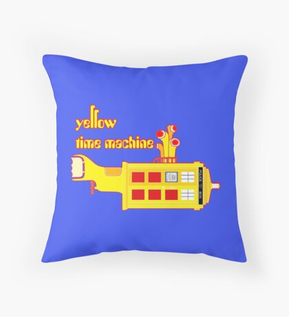 YELLOW TIME MACHINE PILLOW  Throw Pillow