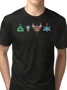For the Horde! Cartoon Pattern Tri-blend T-Shirt