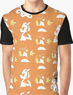Pokemon Magikarp Goldeen Seaking Pattern Graphic T-Shirt