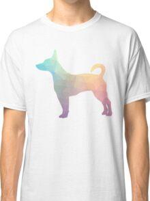Rat Terrier Dog Colorful Geometric Pattern Silhouette - Pastel Classic T-Shirt