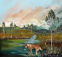 Where the wild dingos roam   Sold by Sandra  Sengstock-Miller