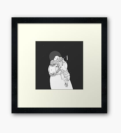 Space Samurai  Framed Print