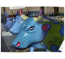 Three Cows on Parade, Ebrington Sq, Derry Poster