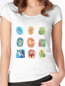 Hoenn Starters Women's Fitted Scoop T-Shirt