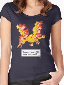 Pokemon Go - Team Valor Sprite Design Women's Fitted Scoop T-Shirt