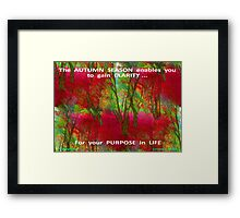 GAIN CLARITY OF YOUR PURPOSE Framed Print