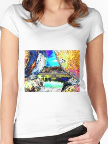 View through the wall Women's Fitted Scoop T-Shirt