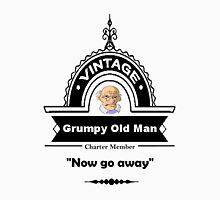 Fun Quote Vintage Grumpy Old Man Logo Unisex T-Shirt