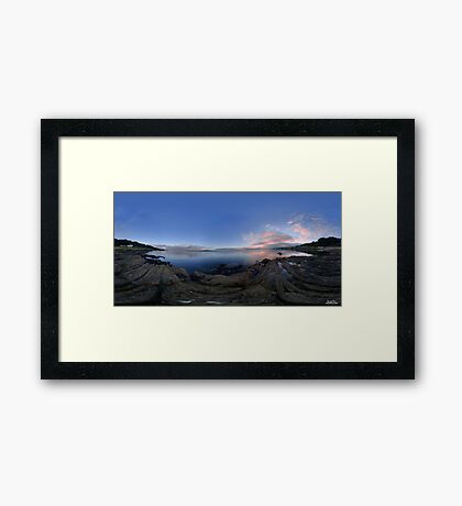 Dusk Shoreline near Moville, Donegal (Rectangular) Framed Print
