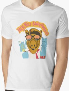 Lord help us, he's back in his pink Alf shirt Mens V-Neck T-Shirt