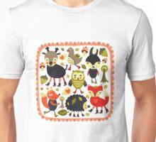 Woodland animals and birds Unisex T-Shirt