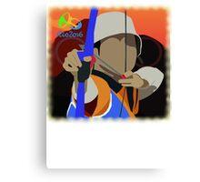 Olympic Archer Rio 2016 Canvas Print