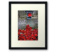 Clay Poppies, Tower of London Framed Print