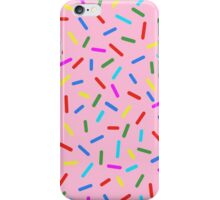 Bright Colorful Rainbow Sprinkles In Pink iPhone Case/Skin