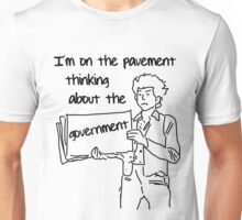 Classic music verses: Dylan on the pavement Unisex T-Shirt