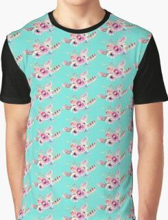 Tribal Flower & Feather Collection Graphic T-Shirt