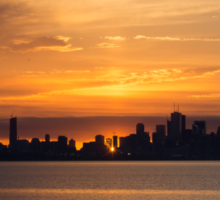 First Sun Rays - Toronto Skyline at Sunrise Sticker