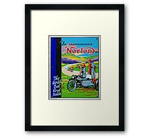 The Unapproachable Norton Framed Print
