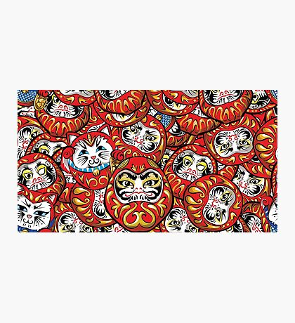 Daruma Daruma All Over Print Photographic Print