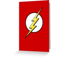 The Flash Logo Greeting Card