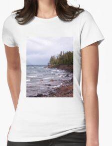 Waves of Lake Superior Womens Fitted T-Shirt