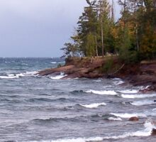 Waves of Lake Superior Sticker