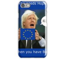 Boris Johnson, scared Brexit iPhone Case/Skin