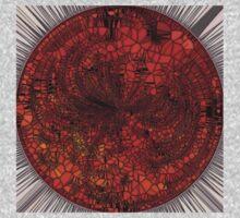 Orange Mosaic Circle One Piece - Long Sleeve