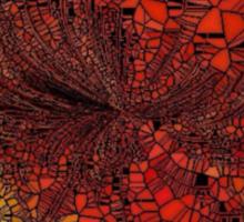 Orange Mosaic Circle Sticker
