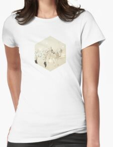 White Horses Womens Fitted T-Shirt