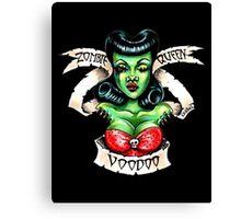 Zombie Voodoo Queen Canvas Print