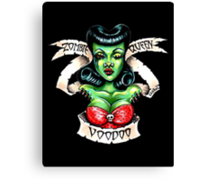 Zombie Voodoo Queen Canvas Print