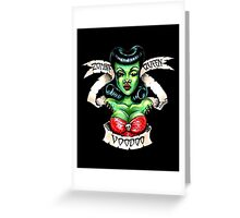 Zombie Voodoo Queen Greeting Card