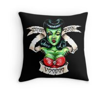 Zombie Voodoo Queen Throw Pillow