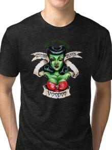 Zombie Voodoo Queen Tri-blend T-Shirt