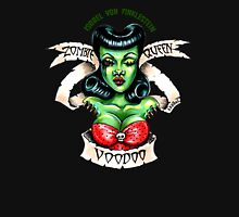 Zombie Voodoo Queen Womens Fitted T-Shirt