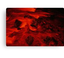 Lava River - Infra Red Long Exposure Canvas Print