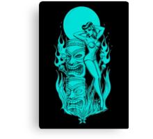 Tiki blue moon Canvas Print