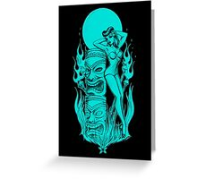 Tiki blue moon Greeting Card
