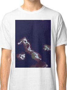 Galapagos Islands Ecuador Satellite Image Classic T-Shirt
