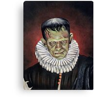 Renaissance Victorian Portrait - Frankenstein Canvas Print