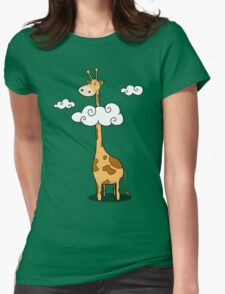 A giraffe Womens Fitted T-Shirt