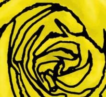 Open Yellow Rose Sticker